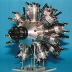 14-Zylinder Doppelsternmotor