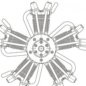 5 Cylinder Radial Engine