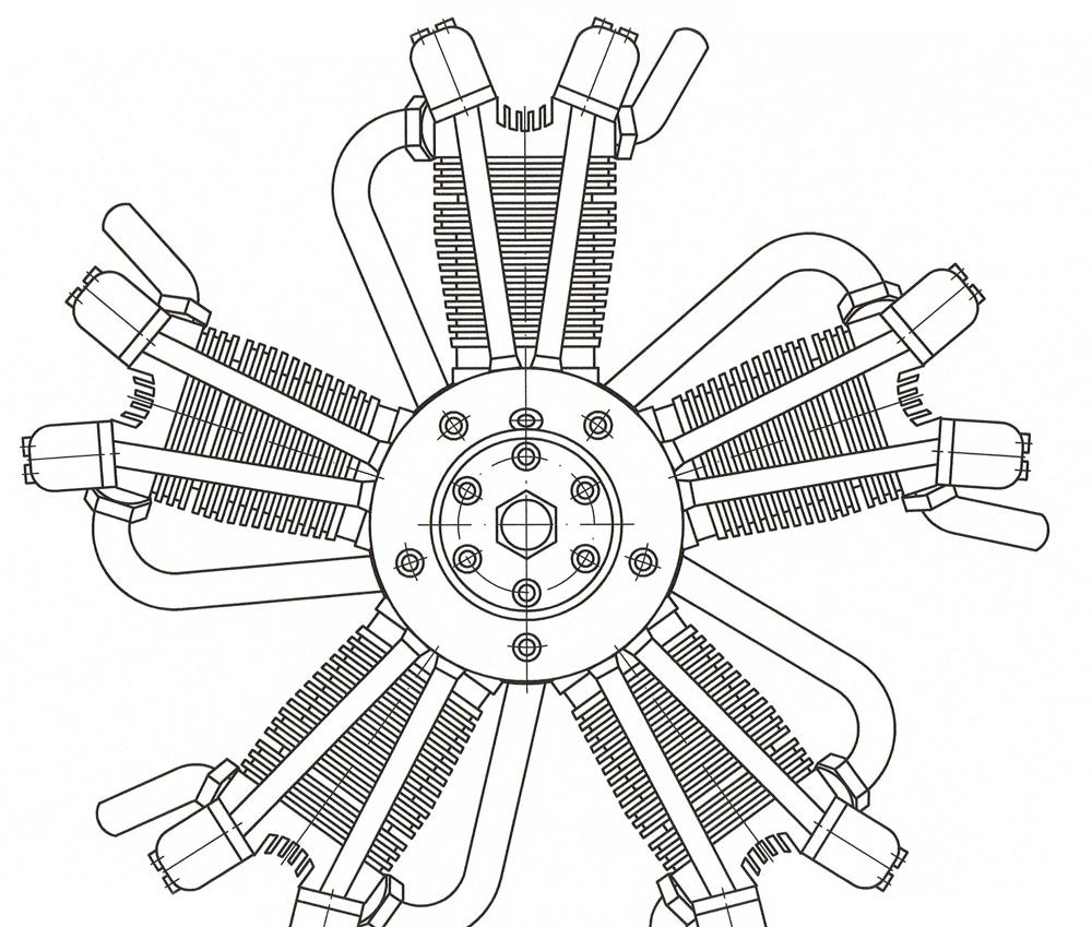 5 Cylinder Radial Engine Martin Ohrndorf Modellbau