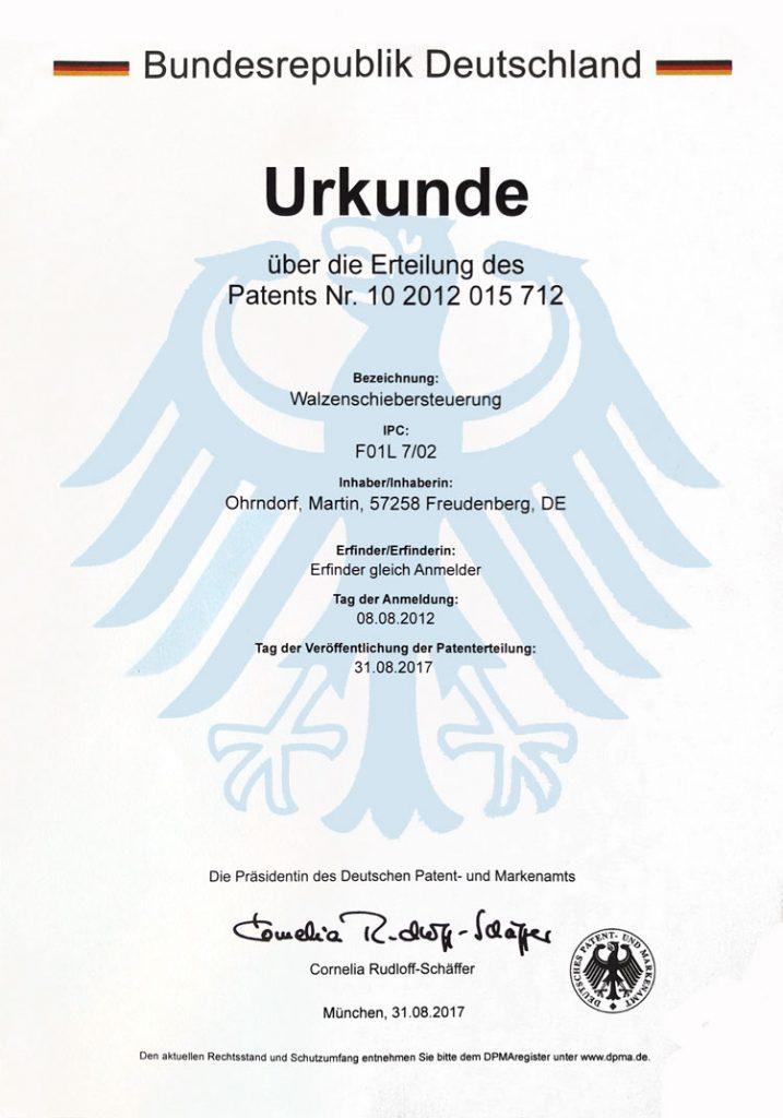 Martin Ohrndorf Patent