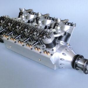 12 Cylinder V Engine