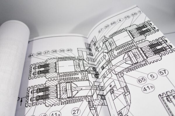 4 Cylinder Boxer Engine: Extract from the construction plans