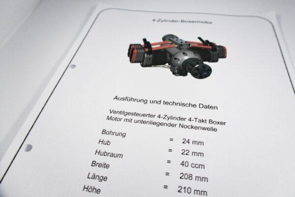 4 Zylinder Boxermotor: Auszug aus den Bauplänen